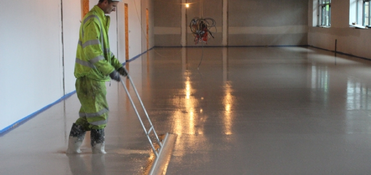 Operative dappling Gvylon Liquid Screed